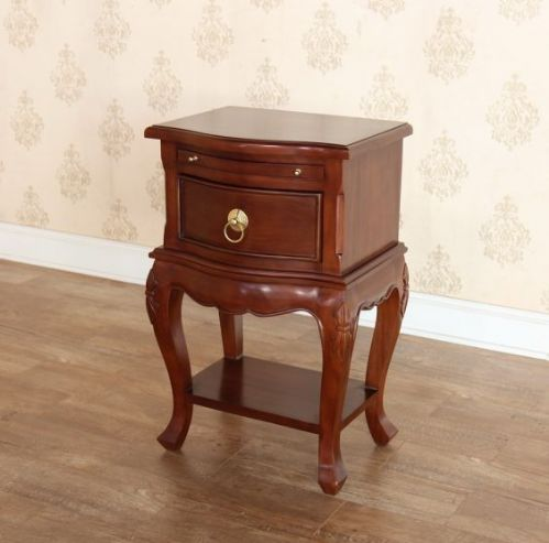 One Drawer Mahogany Bedside with Shelf